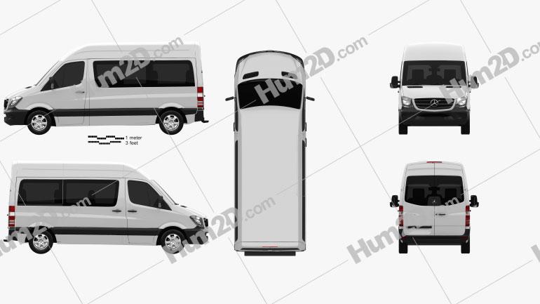 Mercedes-Benz Sprinter Passenger Van 2013 clipart