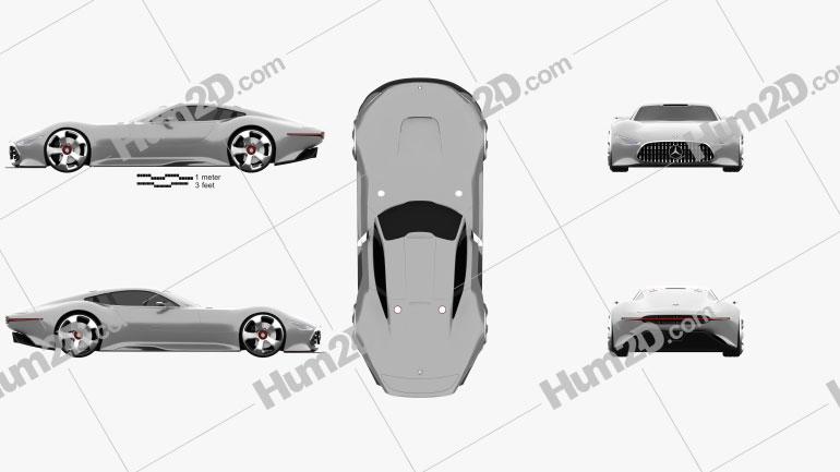 Mercedes-Benz AMG Vision Gran Turismo 2013 car clipart