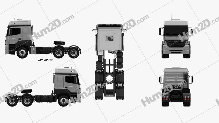 Mercedes-Benz Axor Tractor Truck 2011 clipart
