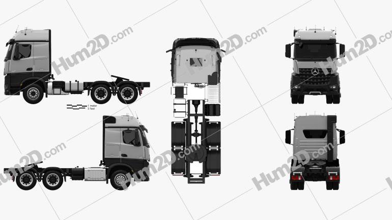 Mercedes-Benz Arocs Tractor Truck 2013 clipart