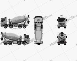 Mercedes-Benz Arocs Mixer Truck 2013