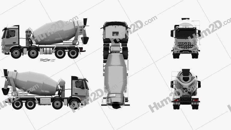 Mercedes-Benz Arocs Mixer Truck 2013 clipart