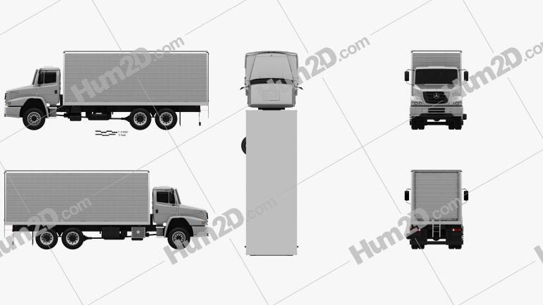 Mercedes-Benz Atron Box Truck 2011 clipart
