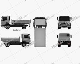 Mercedes-Benz Atego Tipper Truck 2013 clipart