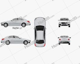 Mercedes-Benz C-Class AMG Line (W205) sedan 2014 car clipart