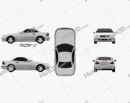 Mercedes-Benz SLK-Class 2000 car clipart