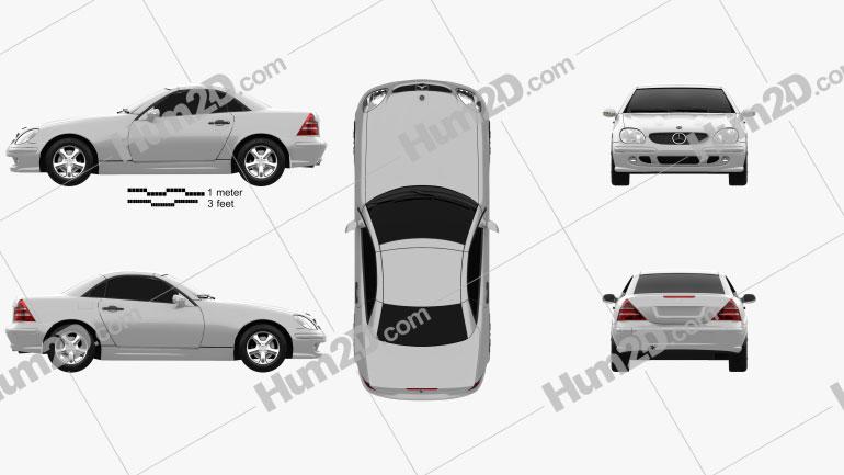 Mercedes-Benz SLK-Class 2000 Clipart Image