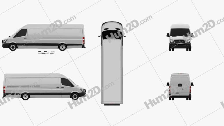 Mercedes-Benz Sprinter Panel Van ELWB HR 2013 clipart