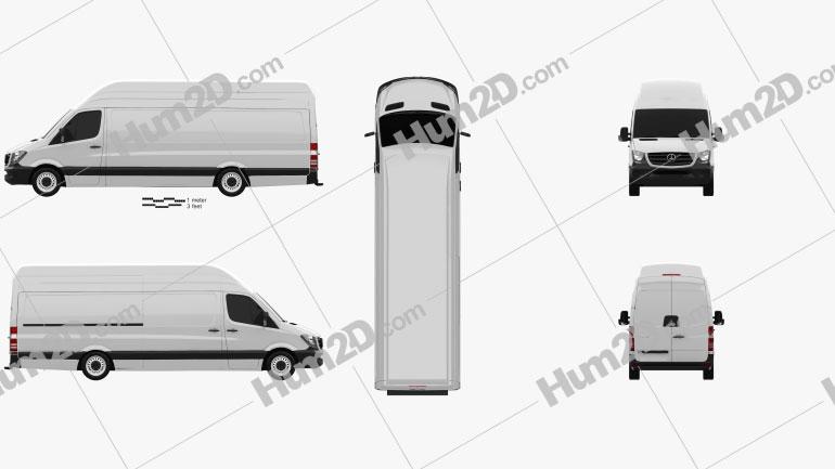Mercedes-Benz Sprinter Panel Van ELWB SHR 2013 clipart