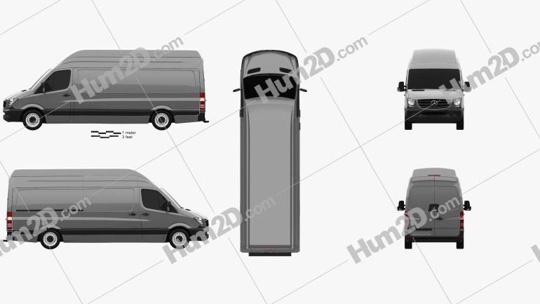 Mercedes-Benz Sprinter Panel Van LWB SHR 2013 clipart