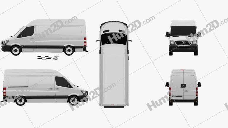 Mercedes-Benz Sprinter Panel Van SWB HR 2013 clipart