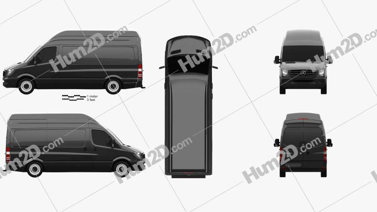 Mercedes-Benz Sprinter Panel Van SWB SHR 2013 clipart