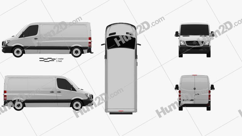 Mercedes-Benz Sprinter Panel Van SWB SR 2013 clipart