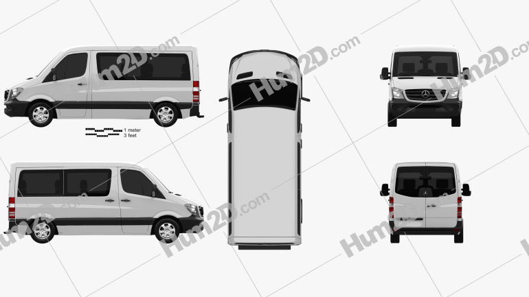 Mercedes-Benz Sprinter Passenger Van CWB SR 2013 clipart