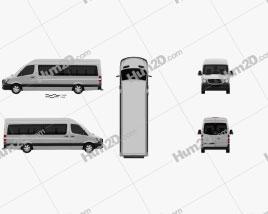 Mercedes-Benz Sprinter Passenger Van LWB HR 2013 clipart