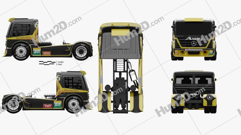 Mercedes-Benz Axor Formula Truck 2011 clipart