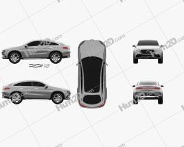 Mercedes-Benz Coupe SUV 2014 car clipart