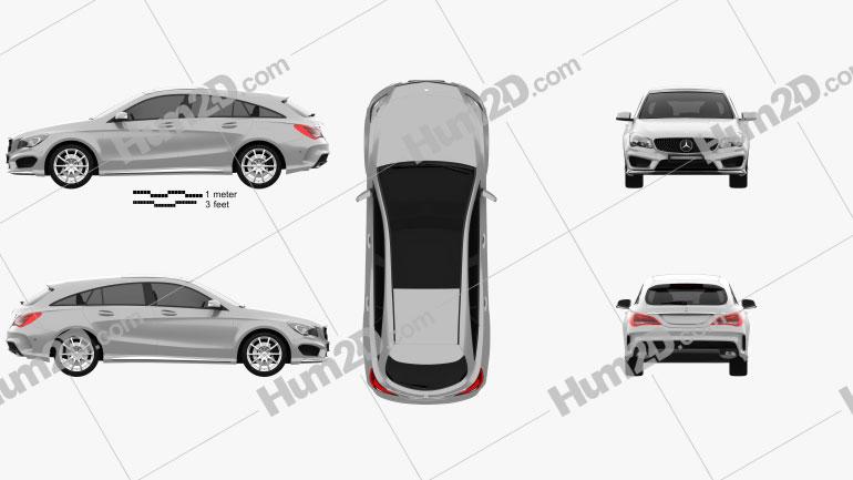 Mercedes-Benz CLA-Class (C117) Shooting Brake 2014 car clipart