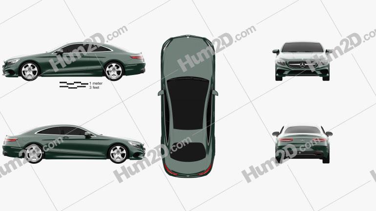 Mercedes-Benz S-Class (C217) coupe 2014 car clipart