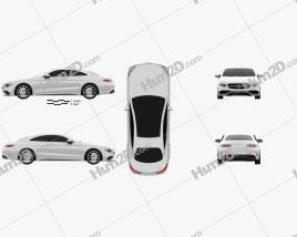 Mercedes-Benz S-Class 63 AMG (C217) coupe 2014 car clipart
