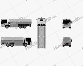 Mercedes-Benz Econic Tanker Truck 2013 clipart