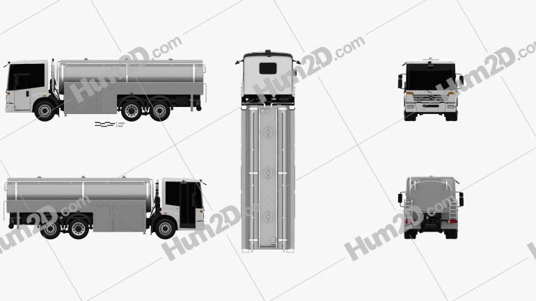 Mercedes-Benz Econic Tanker Truck 2013 Clipart Image