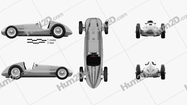 Mercedes-Benz W165 1939 car clipart