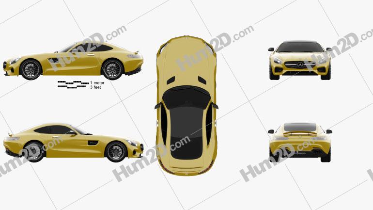 Mercedes-Benz AMG GT 2014 Clipart Image