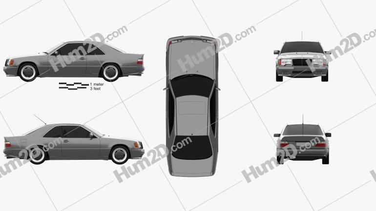 Mercedes-Benz E-Class AMG coupe 1988 Clipart Image