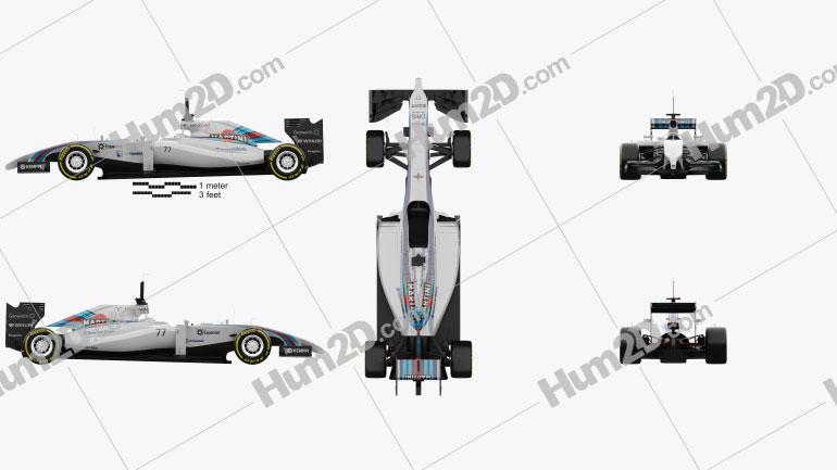 Williams FW36 2014 car clipart