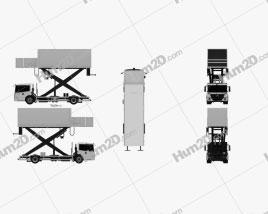 Mercedes-Benz Econic Airport Lift Platform Truck clipart