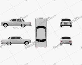 Mercedes-Benz W110 1966 car clipart