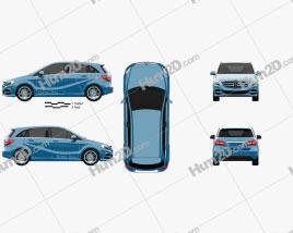 Mercedes-Benz B-Class (W242) Electric Drive 2014 car clipart