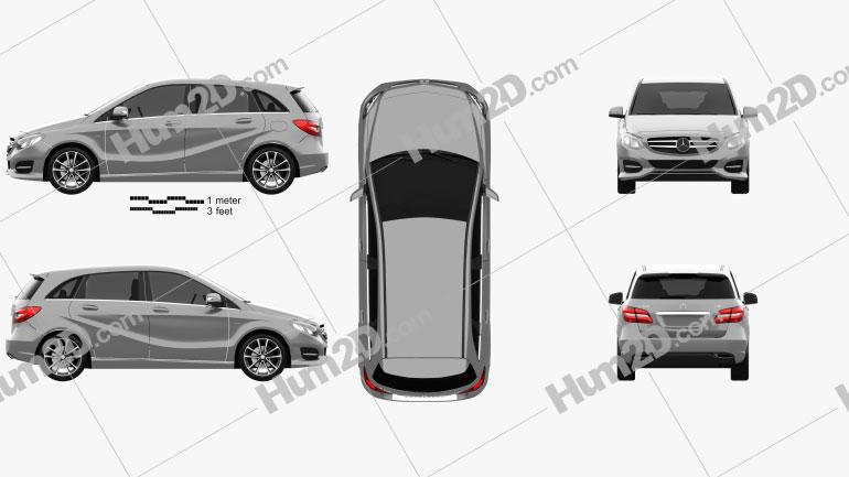 Mercedes-Benz B-Class (W246) Urban Line 2014 Clipart Bild