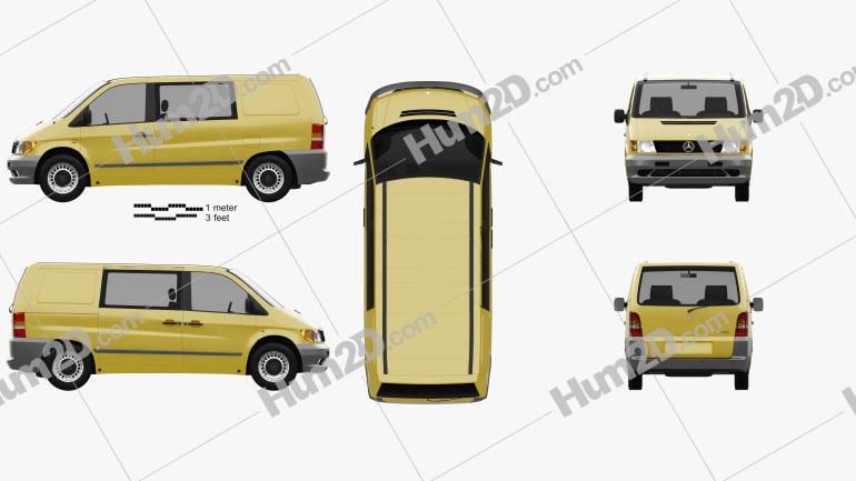 Mercedes-Benz Vito (W638) Kombi Van 1996 clipart