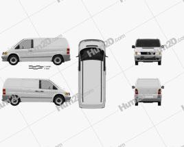 Mercedes-Benz Vito (W638) Panel Van 1996 clipart