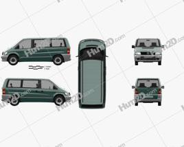 Mercedes-Benz Vito (W638) Passenger Van 1996 clipart