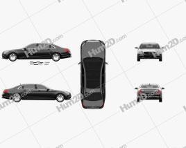 Mercedes-Benz S-Class (W222) Maybach 2016 car clipart