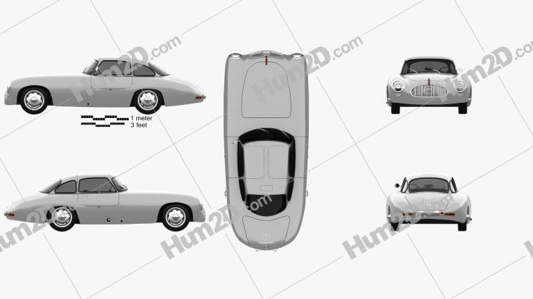 Mercedes-Benz SL-Class (W194) 1952 car clipart