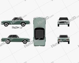 Mercedes-Benz SL-class (W113) 1963 car clipart