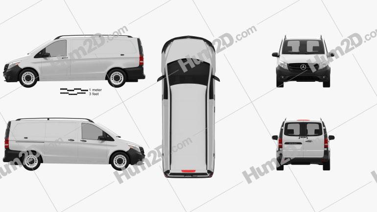 Mercedes-Benz Metris Panel Van 2014 Clipart Image