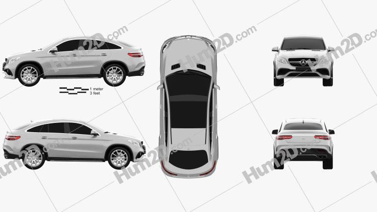 Mercedes-Benz Classe GLE (C292) Coupe AMG 2014 car clipart