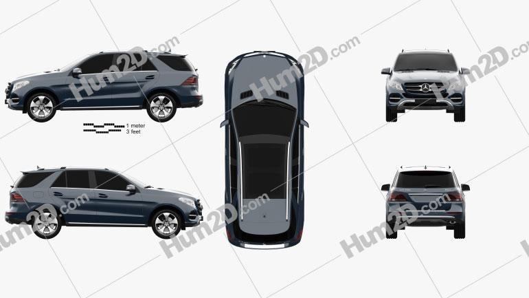 Mercedes-Benz Classe GLE (W166) 2014 car clipart