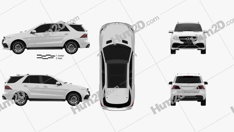 Mercedes-Benz Classe GLE (W166) AMG 2014 car clipart