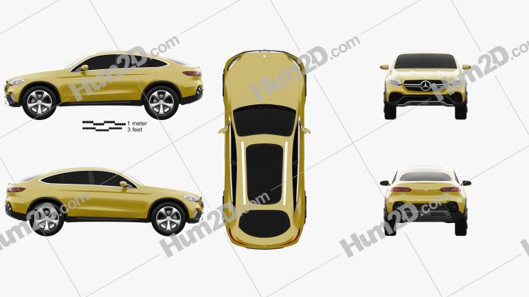 Mercedes-Benz GLC Coupe Concept 2014 car clipart