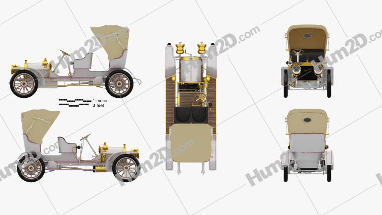 Mercedes-Benz Simplex 28-32 Phaeton 1905 car clipart