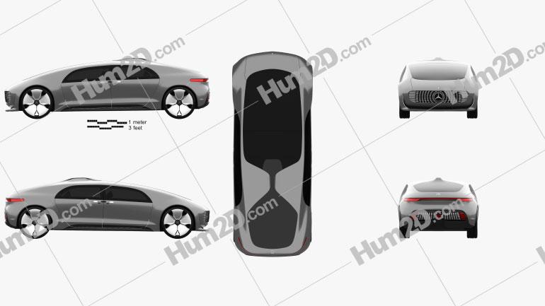 Mercedes-Benz F 015 2015 car clipart