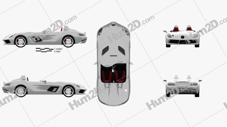 Mercedes-Benz SLR McLaren Stirling Moss 2009 car clipart