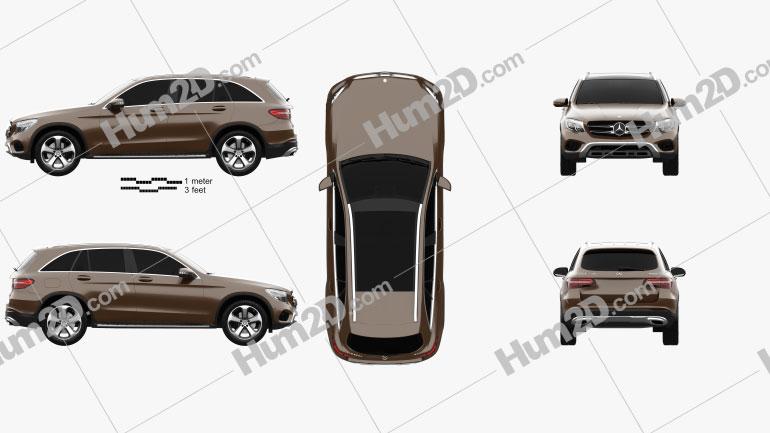 Mercedes-Benz GLC-Class (X205) 2015 Clipart Image