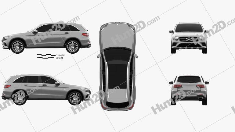 Mercedes-Benz GLC-Class (X205) AMG Line 2015 car clipart